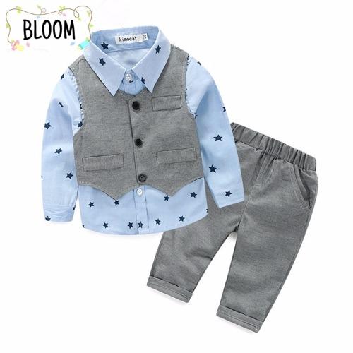 Conjunto set casual bebé niño 3 piezas. 100% algodón. Bloom  Tienda ... 4cf10426665c5